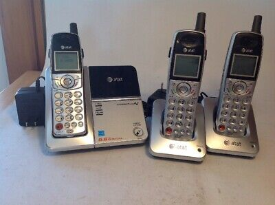 AT&T E5903B 5.8ghz Wireless Phone & Answering System Caller ID Plus 2 Additional