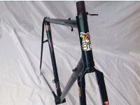 EDDY MERCKX - CORSA EXTRA - FRAME & FORKS 1990s - 57cm C-T-C COLUMBUS SLX