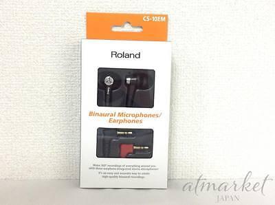 Roland CS-10EM Binaural Microphone & Earphone from JAPAN NEW F/S