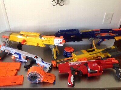 Large Lot of Nerf Guns, clips, ammo  Longshot, Deploy, RotoFury, Retailiator