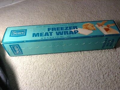 Rare Vintage Sears Freezer Meat Wrap Paper Movie Stage Play Prop Roebuck Company