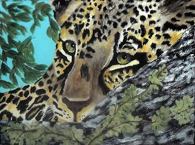 Original Thandi Leopard Cub Painting by Dia, EBSQ