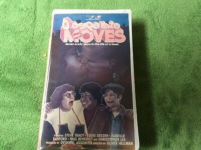Desperate Moves Rare   Oop 80S Offbeat Comedy Trans World Entertainment Vhs