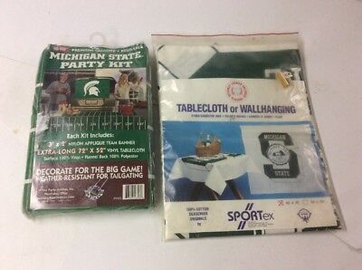 (NCAA Licensed Football Party Kit Wall hanging Tablecloth Michigan State Spartans)