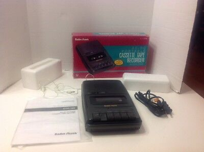 RadioShack CTR-100 Cassette Recorder with box - excellent condition, tested