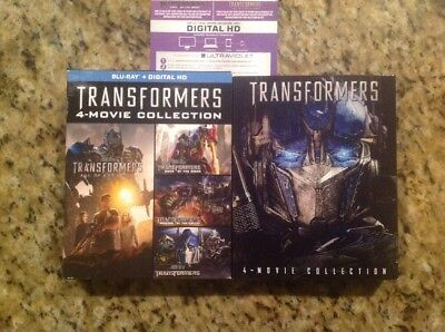 TRANSFORMERS 5 MOVIE COLLECTION 1 2 3 4  (Blu Ray,5-Disc)Authentic US