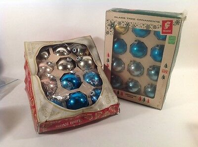 24 vintage Shiny Brite, Frankie, Made In USA  Christmas Ornaments Original Boxes