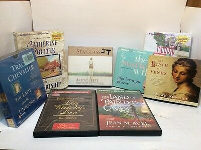 Drama Audiobook Lot-Chevalier,Shreve,Grazer,Dunant,Lawrence,Auel,Coulter,Macombr