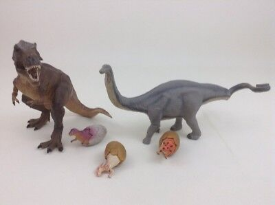 Realistic Dinosaur Action Figures Papo Safari  T-Rex Apatosaurus Eggs Quality  for sale  Warren