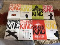 MINT CONDITION COLLECTOR'S LOT OF 26 HARDBACK STEPHEN KING BOOKS