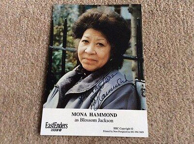 MONA HAMMOND AS BLOSSOM JACKSON BBC EASTENDERS HAND SIGNED CARD DEDICATED
