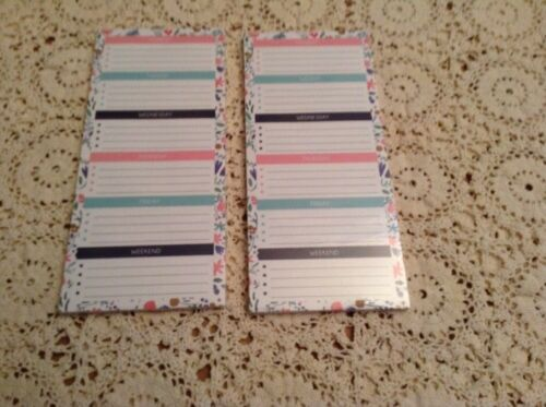Lot of 2  Weekly List Pad- 56 sheets each