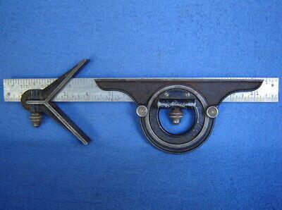 Starrett 3-pc 12 Combination Square Set Center Head Protractor With Level