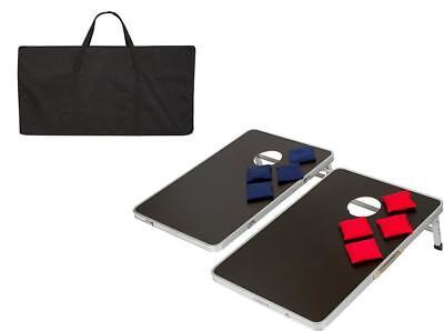 Foldable Aluminum Bean Bag Toss Cornhole Game Set Boards Tailgate Regulation