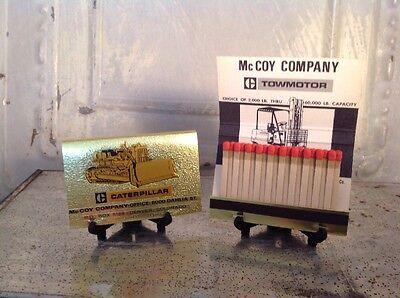 Vintage Caterpillar CAT Equipment Tractor Bulldozer McCoy Matchbook Advertising