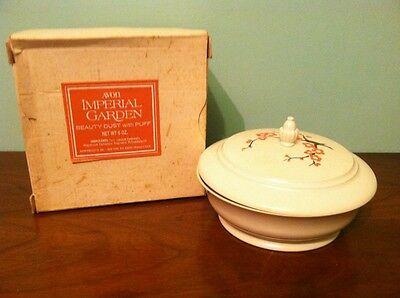 Vintage Avon Imperial Garden Beauty Dust With Puff Powder New Nos