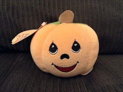 Precious Moments PUMPKIN Enesco Tender Tails Plushkins Plush Embroidered Face 5""