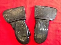 Antique leather motorcycle riding mitts