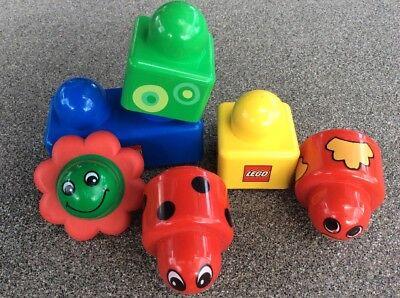 Lego Duplo Baby-Set 6 Teile 2 Rasselteile Marienkäfer+Vogel