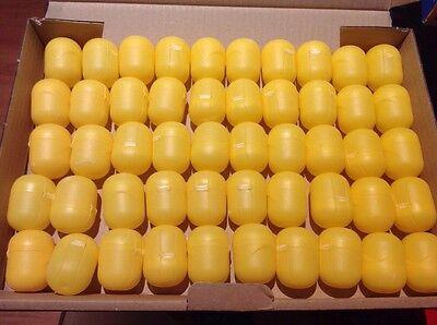 50 leere Ü-Ei Kapseln von Ferrero; basteln, hochzeit, aufbewahren Gelb