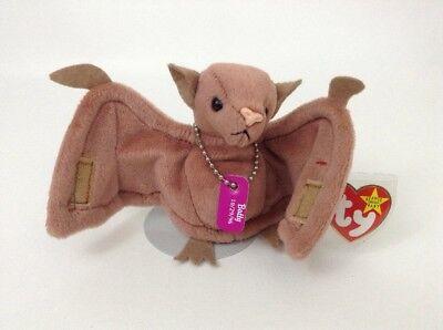 Ty Beanie Babies Batty Brown Bat w Dog Tags 4