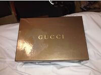 Men's 100% Genuine GUCCI size 11 in box, black high tops, rare design and very expensive - £350+