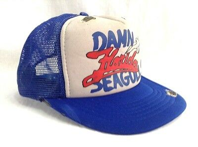 Damn Florida Seagulls Hat Bird Poop Snapback Distressed Trucker Cap