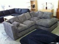 DYLAN JUMBO CORD CORNER SOFA!!!SPECIAL DEAL INCLUDING FREE LONDON DELIVERY!!!