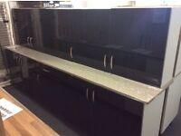 Black Gloss Fully Assembled Kitchen Units & 1 Worktop