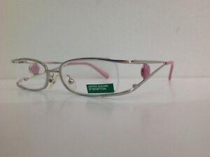 Benetton-Occhiale-Da-Vista-Bambina-Mod-025-metallo-argento-rosa-75-asta-doppia