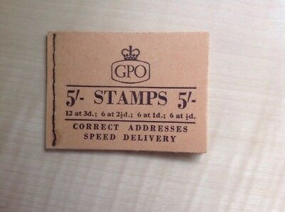 Great Britain Stamp Booklet 5/- May 1958 H34