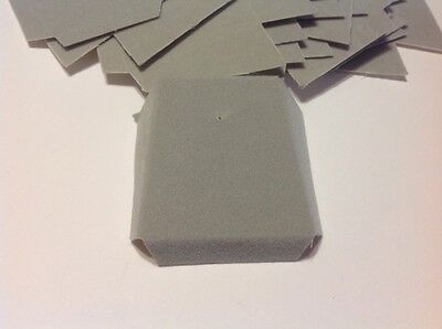 Lot Of 500 Gray Velvet Flocked Jewelry Chain Slanted Cards 1 58 X 1 78 New
