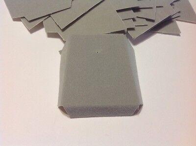 Lot Of 500 Gray Velvet Flocked Jewelry Chain Slanted Cards 1 58 X 1 78 New