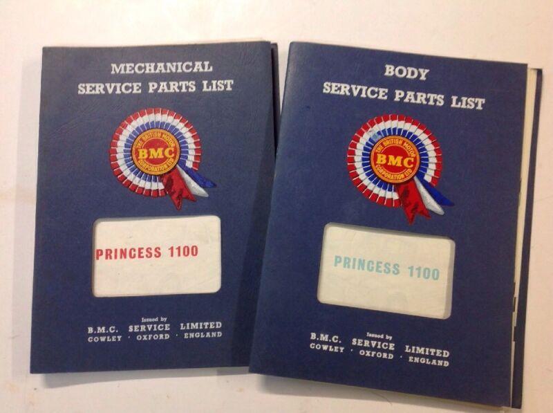 NOS BMC Princes 1100  Body & Mechanical Service Parts Lists