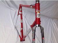 EDDY MERCKX - PROFESSIONAL - FRAME & FORKS 1990s - 56 C-T-C COLUMBUS SLX
