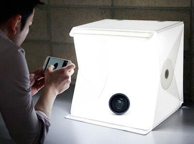 Foldable Portable Photography Studio Photo Light Cube Box Kit Foldio II Dual LED