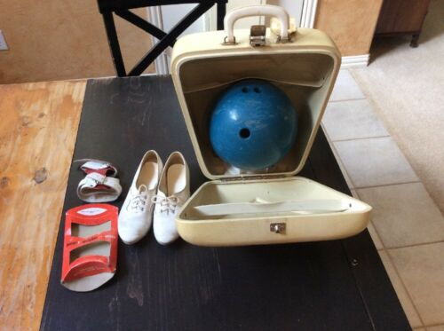 Vintage Amf Hard Case Ace Bowling Ball, Womens Shoes Leather Wrist Support