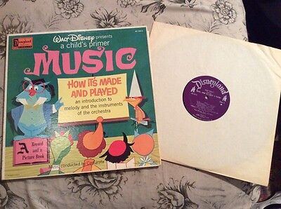 Walt Disney A Child's Primer Music and How It's Made and Played LP Record 1961