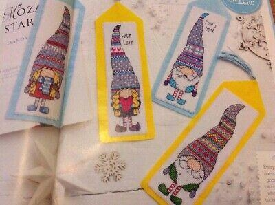 (X6) Festive Tomte Gnomes Christmas Cross Stitch Chart ()