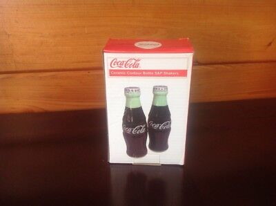 Ceramic Salt and Pepper Shakers Coca Cola