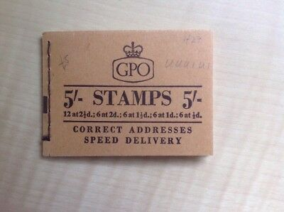 Great Britain Stamp Booklet 5/- July 1957 H29