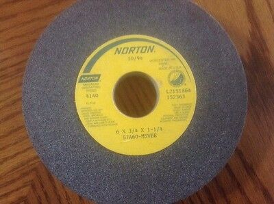 Norton Grinding Wheel 6x34x1-14 New 57a60-m5vbe Made In Usa Free Shipping