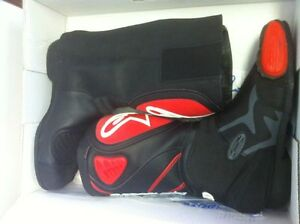 ALPINESTARS RACING BOOTS SIZE 9 OR 43 EUROPEAN BLACK/RED NEW Windsor Region Ontario image 2