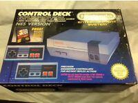 Original Boxed 1989 Nintendo Entertainment System console with Original Mario Bros game