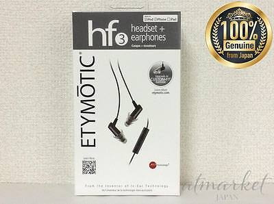 Etymotic Research ER23-HF3-BLACK HF3 In-Ear Headset with 3-Button Remote JAPAN