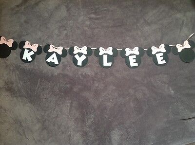 Minnie Mouse Personalized Name banner. Choose Any Name!!!! (Minnie Mouse Personalized Banner)