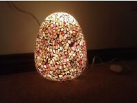 Mosaic Glass egg lampshade (no light/base included)