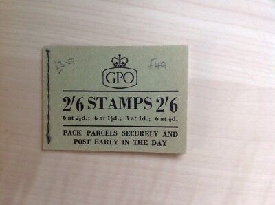 Great Britain Stamp Booklet 2/6 December 1956 F49 Complete