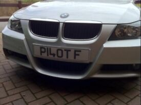 PILOT F number plate