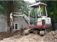 Mini digger hire + Groundworks Barnsley Wakefield Huddersfield Sheffield Rotherham Leeds Bradford